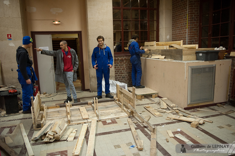 La salle archi, en construction !