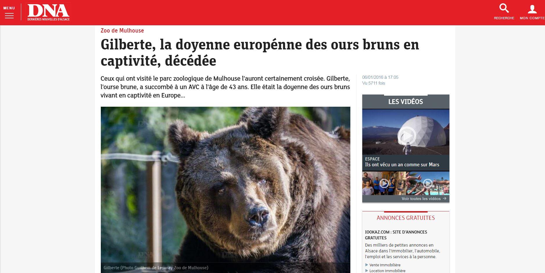 Gilberte - zoo de mulhouse - delepinay.fr