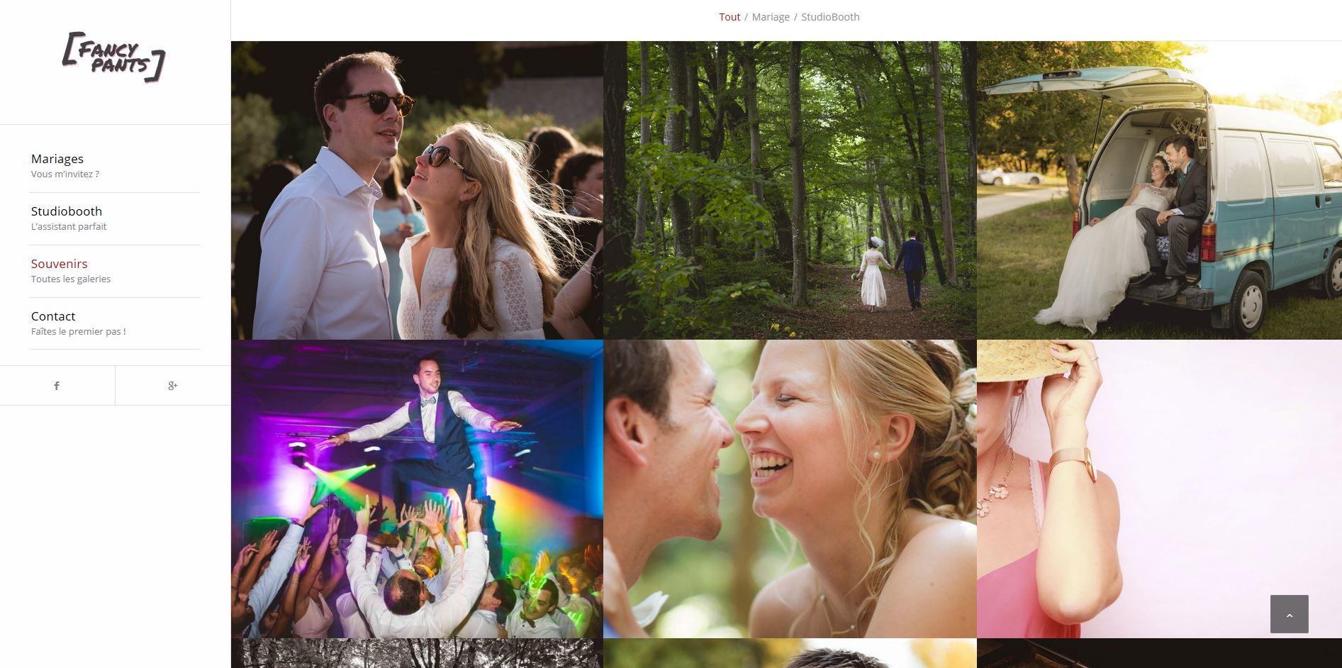 site web photographe mariage